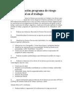 Implementación programa de riesgo psicosocial en el trabajo