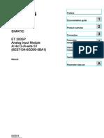 Et200sp Ai 4xi 2 4 Wire St Manual en-US en-US