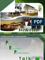PEP Talk Day 1