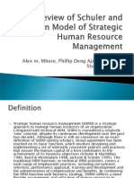 Review of Schuler and Jackson Model of Strategic