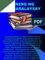 PAGSASALAYSAY