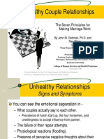 0 Unhealthy Relationships Rev 081706 Gottman