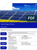 Market Research Report :Solar Energy in China 2012