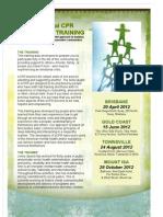 Emotional CPR Training Flyer