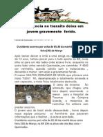 acidente na br 104, proximidades BOa VIsta- Queimadas PB