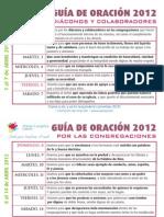 Guía Oración Abril 2012