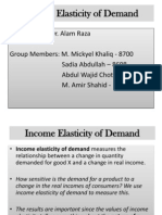 Income Elasticity of Demand(1)