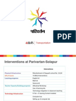 Presentation, Project Parivartan IL&FS Education, 20120330