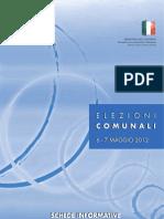 Scheda informativa Elezioni 2012
