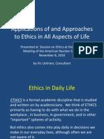 Ethics Life