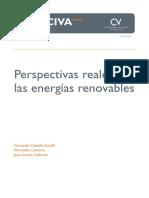 Perspectivas energías renovables (Es)/ Renewables prospects (Spanish)/ Energia berriztagarrien perspektibak (Es)
