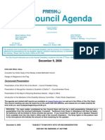 December 9 2008 Council Agenda