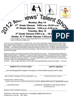 3-30 Talent Show Entry Form 2012