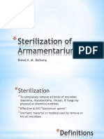 Sterilization of Armamentarium