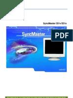 Manual Sansung Sync Master 551 v S