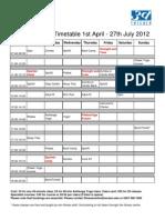 Classes Timetable_April 2012