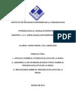 Introducción al Lenguaje Radiofónico - Proceso Evolutivo de la Radio