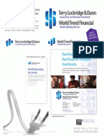 Terry Lockridge & Dunn / World Trend Financial Branding POP Page