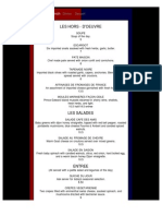 Cafe Des Amis Lunch Menu