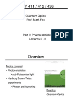 Photon Statistics Notes