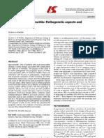Severe Acute Pancreatitis Pa Tho Genetic Aspects And