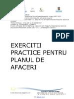 Manual de Ejercicios Del Plan de Negocio (Ro)