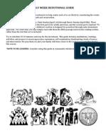 Holy Week Devotional Guide 0401 - 0408