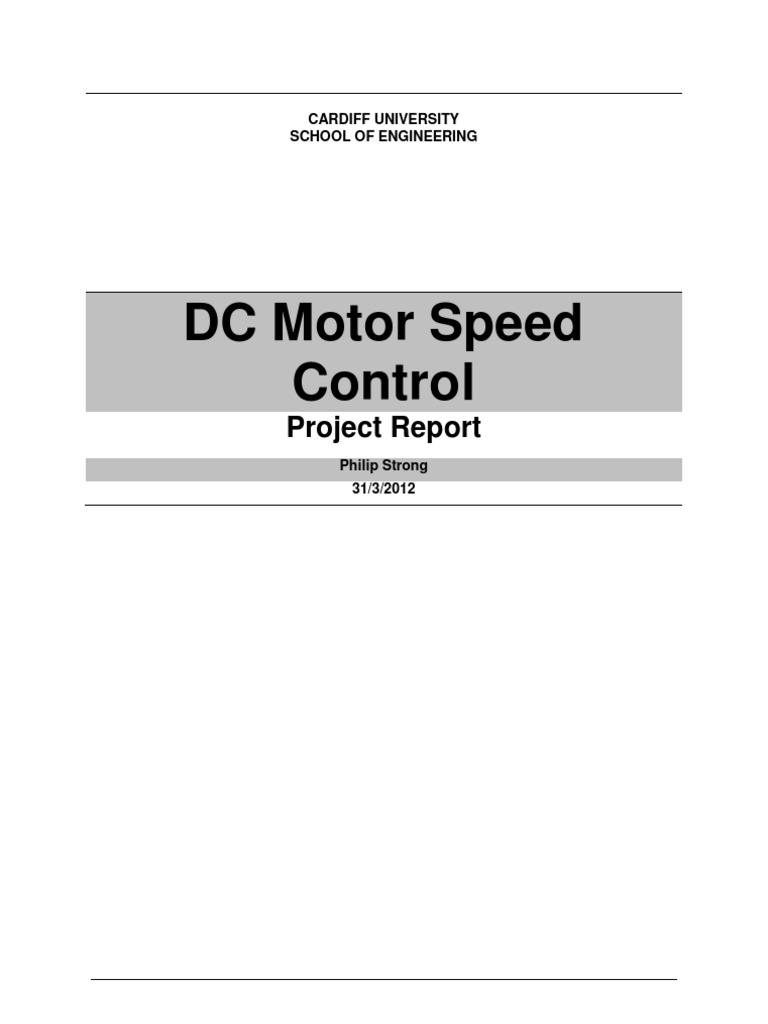 Design Of A Dc Motor Speed Controller Microcontroller Arduino Mcu Control And Direction