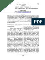 Enterprise Resource Planning (ERP), ERP Impact, ERP Design and Implementation,