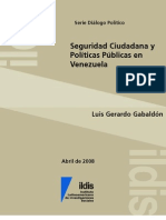 05569seguridad Ciudadana y Politicas Publicas en Vzla