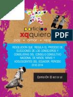 RESOLUCIÓN COMISION ELECTORAL DE NIÑAS,NIÑOS Y ADOLESCENTES