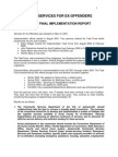 2004 Ex Offenders Implementation Report