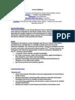 Information Sources & Services - EDLI 276 OL1 - Course Syllabus