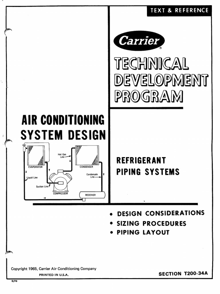 Carrier Refrigerant Piping Systems