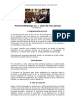 Reconocimiento legal para la lengua de señas peruana