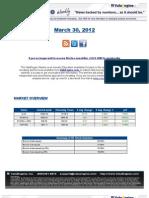 ValuEngine Weekly Newsletter March 30, 2012