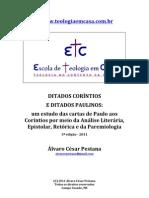 Ditados Corintios e Paulinos 2011 ETC 3a Ed