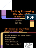 Auditory Processing Disorder. TE803