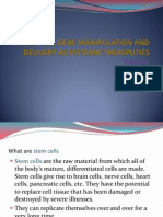 Stem Cell Gene Manipulation and Delivery as Systemic Ppt