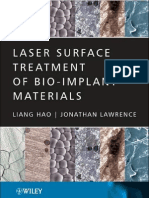 Laser Surface Treatment of Bio-implant Materials