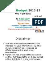 Union Budget 2012 India Presentation