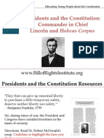 PC 1 Commander in Chief-Lincoln and Habeas Corpus-Student Program