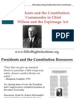 PC 1 Commander in Chief-Wilson and the Espionage Act-Student Program