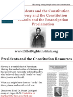 PC 1 Slavery -Lincoln and Emancipation Proclomation-Student Program