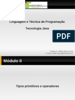Tipos Primitivos e Operadores