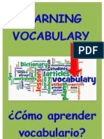 Learning VOCABULARY. Cómo aprender vocabulario'