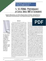 OFDMA vs SC FDMA Performance Comparison on Local Area IMT-A Scenarios