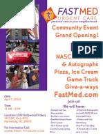 Harrisburg Community Event FastMed Flier
