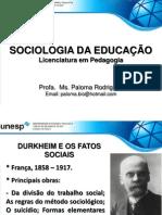 Aula 2. Durkheim e Os Fatos Sociais