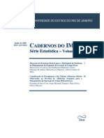 Cadernos Do IME - Serie a Vol 20